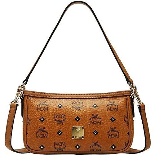 MCM Gold Visetos Small Handbag/Purse
