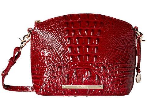 Brahmin Mini Duxbury Carmine Red Melbourne Leather Cross Body