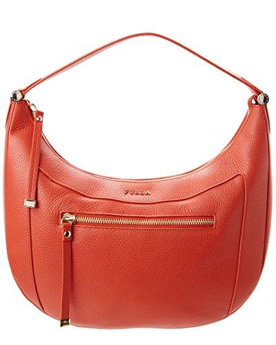 Furla Ginevra Leather Hobo Shoulder Bag, Maple
