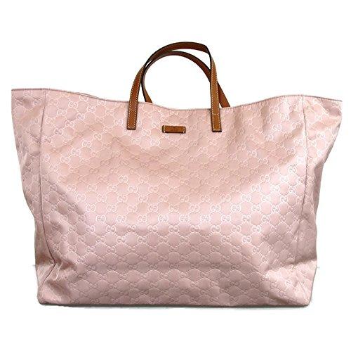 Gucci Dust Pink Nylon Gg Guccissima Tote Bag Handbag 286198