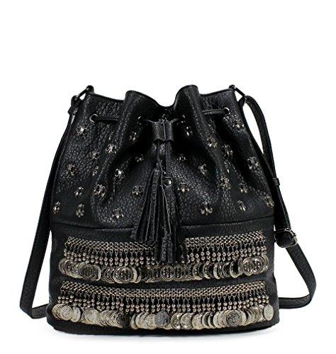Scarleton Gypsy Style Hobo Bag H1759
