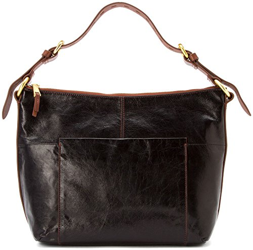 Hobo Handbags Vintage Leather Charlie Shoulder Bag – Black