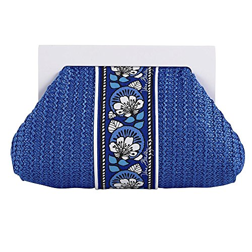 Vera Bradley Straw Clutch in Blue Bayou, 13617-159