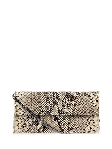 Cashhimi Evelyn Python Clutch Shoulder Bag