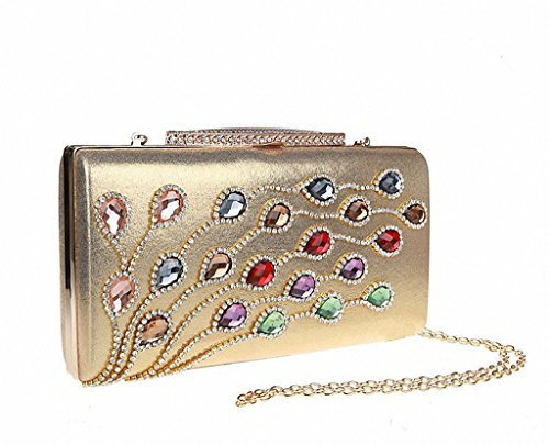 Fashion Ladies Elegant Rhinestones Clasp Flap Purse Evening Bag Clutch