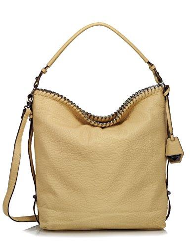 Jessica Simpson Lizzie Cross Body Hobo Shoulder Bag, Beige
