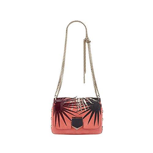 Jimmy Choo Designer LOCKETT PETITE Leather Palm Applique Shoulder Handbag Purse Made in Italy