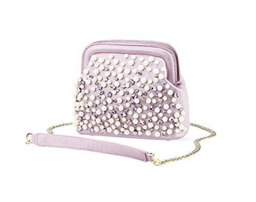 WeiYin Womens Cross Body Bag Beaded Clutch Evening Prom Purse Clutch Handbag