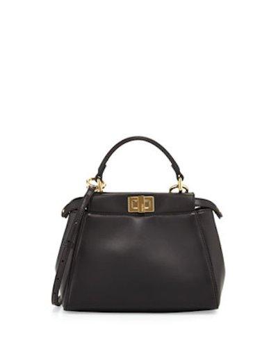Fendi Peekaboo Mini Hand Bag Black