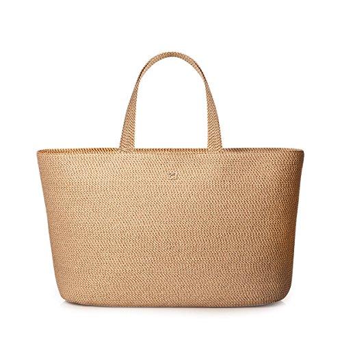 Eric Javits Designer Women's Handbag Sinclair Tote Bag (Peanut)