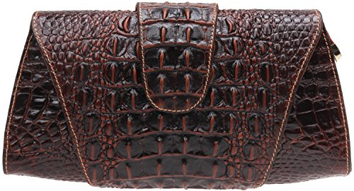Iblue Croco Embossed Leather Clutch Crossbody Bag Party Purse Wallet 12 Inch #W062