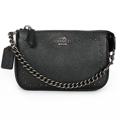 COACH 65503 EDGE STUDS NOLITA WRISTLET 15 IN LEATHER