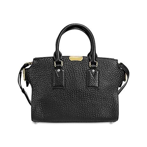 Burberry Medium Clifton Signature Grain Leather Satchel – Black