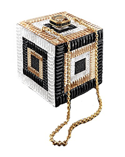 Judith Leiber Couture Cube Be Square Crystal Clutch, Champagne Multi