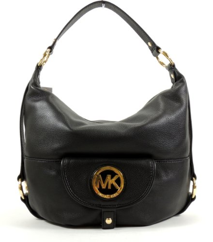 Michael Kors Fulton Genuine Leather Large Shoulder Bag Purse Handbag