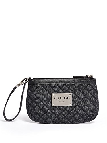 GUESS Women's Pompano Quilted Denim Wristlet
