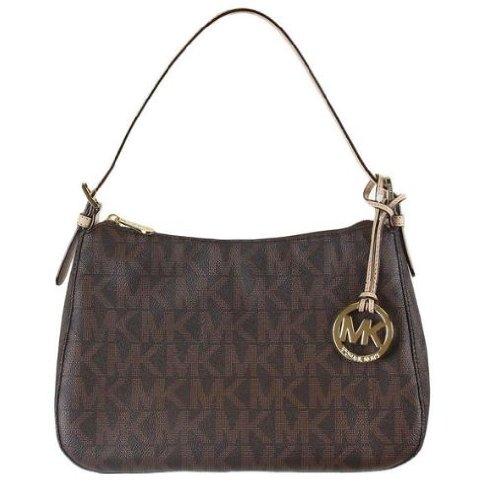 MICHAEL Michael Kors Small Top Zip Shoulder Bag MK Sig PVC