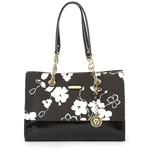 Anne Klein Coast Is Clear Small Shoulder Bag Black Floral, One Size