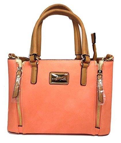Noelle Vegan Faux Leather Structured Crossbody Handbag in Citrus