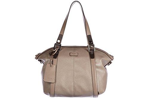 Tod's women's leather handbag shopping bag purse bicolor brown