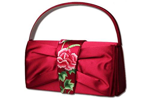 Yofol Women Top Handle Clutch Handbag Hunan Embroidery Handmade Chinese Retro Design
