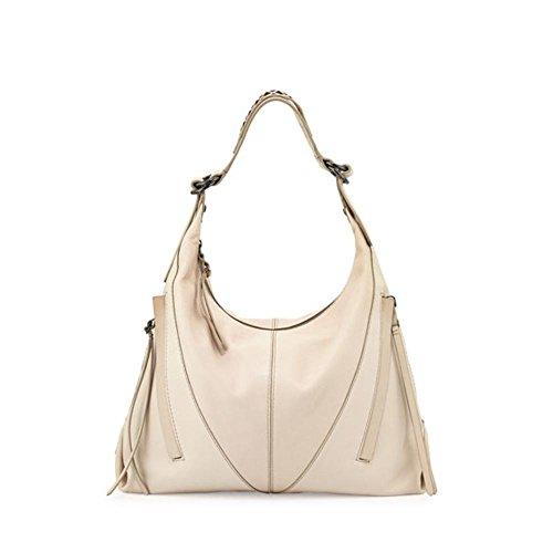 Kooba Womens Mickey Leather Cutwork Strap Hobo Handbag