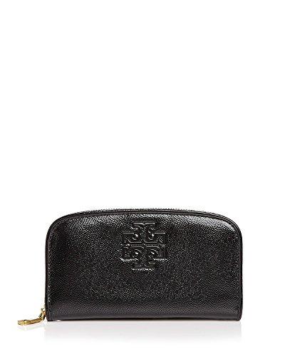 Tory Burch Britten Patent Zip Continental Wallet – Black