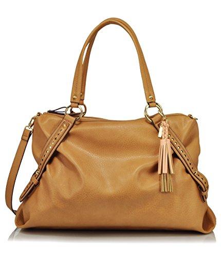 Jessica Simpson Christina Satchel Shoulder Bag, Latte