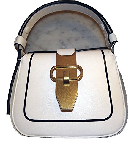 Tory Burch Mini Lock Bag in New Ivory Leather