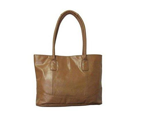 Casual Leather Handbag – Caramel