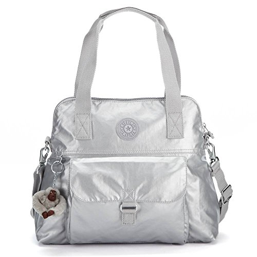Kipling Women's Pahneiro Metallic Handbag One Size Silver Metallic