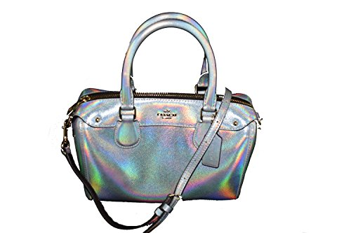 Coach Silver Hologram Mini Bennett Satchel Im/gold Hard…