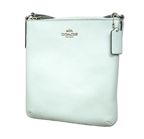 Coach Crossgrain North South Crossbody Handbag Seaglass