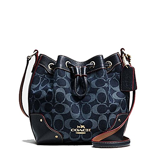 Coach Baby Mickie Drawstring Shoulder Bag In Denim