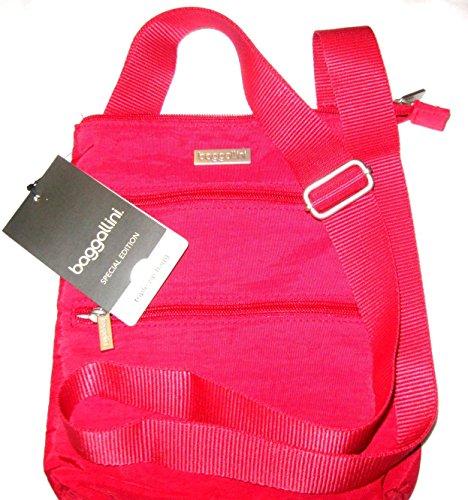 Baggallini Triple Zip Bagg Crossbody Travel Pack Handbag (Apple Red)