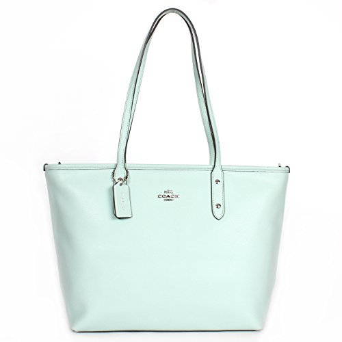 Coach Crossgrain City Zip Top Tote – Seaglass