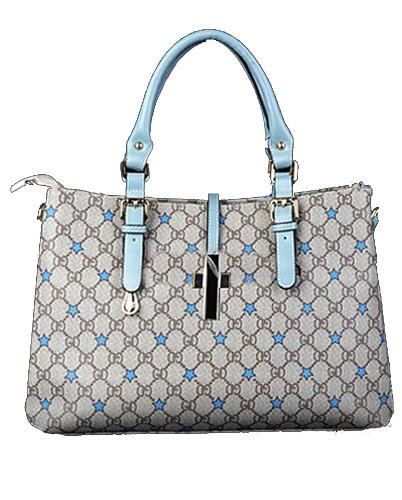 Ilishop Ib Ball Women's Grey Brand Fashion Tote New Style Quaint Print Handbag