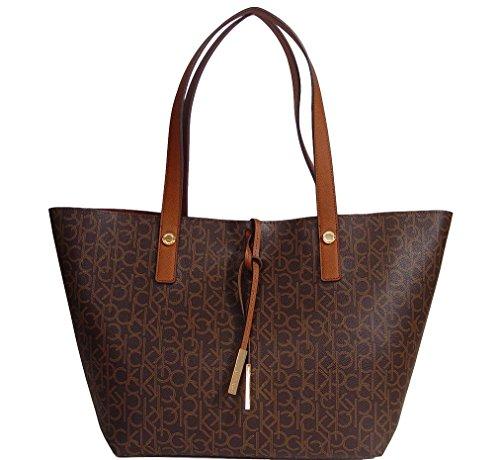 Calvin Klein Signature Large Shopper Travel Tote Handbag Bag