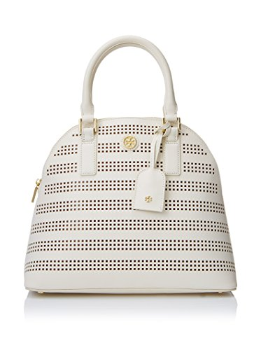 Tory Burch Robinson Perforated Dome Satchel – Birch/Luggage
