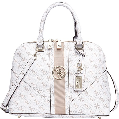 GUESS Lena Large Dome Satchel (White)