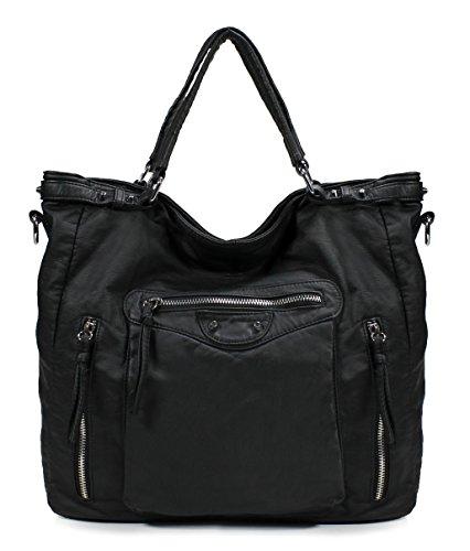 Scarleton Soft Washed Multi Pocket Stylish Shoulder Bag H1782