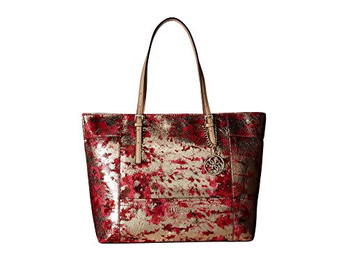 Guess Delaney Medium Handbag Cherry Multi