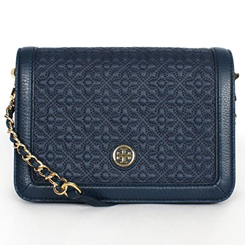 Tory Burch Bryant Quilted Stitched Chain Crossbody Hudson Bay