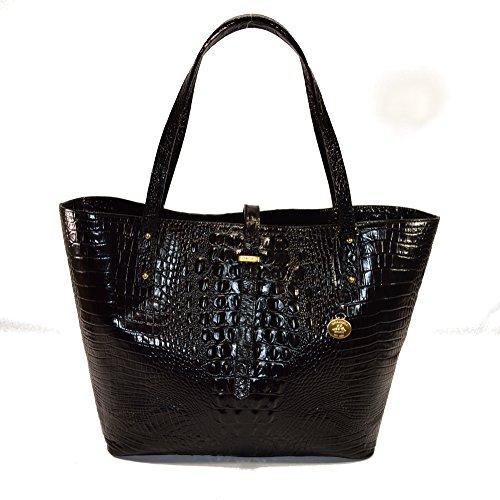 Brahmin All Day Tote Onyx La Scala Black Leather Bag