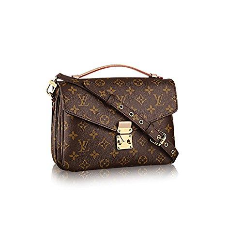 Authentic Louis Vuitton Monogram Canvas Pochette Metis Cross Body Bag Handbag Article: M40780