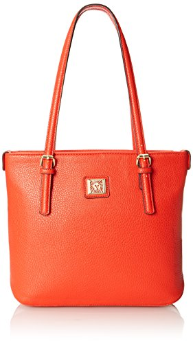 Anne Klein Perfect Tote Small Shoulder Bag, Sunset Orange, One Size