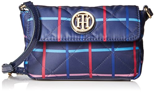 Tommy Hilfiger Quilted Mini Flap Xbody Cross Body Bag, Navy/Pink, One Size
