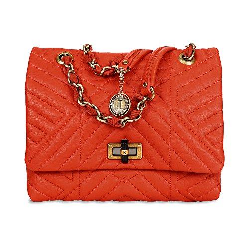 Lanvin Happy Classic Medium Leather Shoulder Bag – Orange