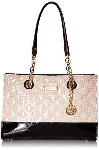 Anne Klein Coast Is Clear Tote Bag, Sugar/Black, One Size