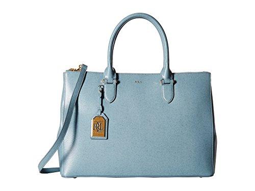 LAUREN by Ralph Lauren Newbury Double Zip Satchel Handbags Cameo Blue